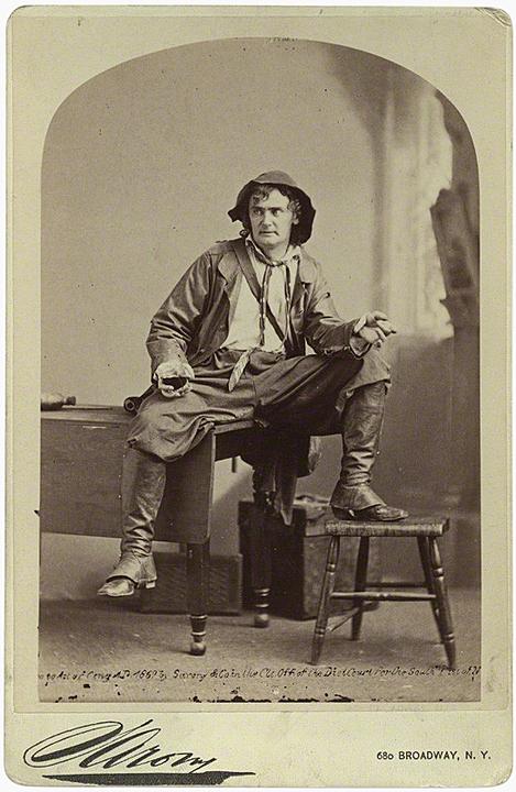 Napoleon Sarony, Joseph Jefferson as Rip van Winkle in 'Rip van Winkle', 1870s (1869)