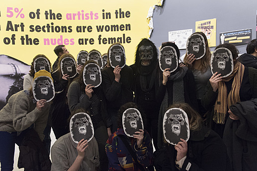 Opening reception for the exhibition Art at the Center: Guerrilla Girls, 2016