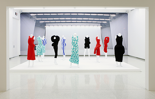 View of the exhibition Dance Works III: Merce Cunningham/Rei Kawakubo