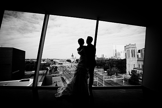 Bride & Groom in the Skyline Room