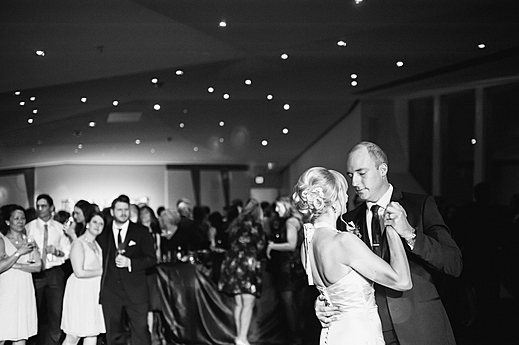 Bride & Groom First Dance in the Skyline Room
