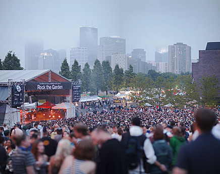More than 10,000 people attended Rock the Garden 2011