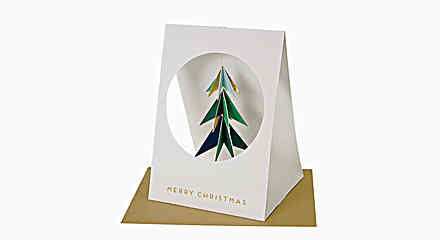 3D Hanging Tree Holiday Card