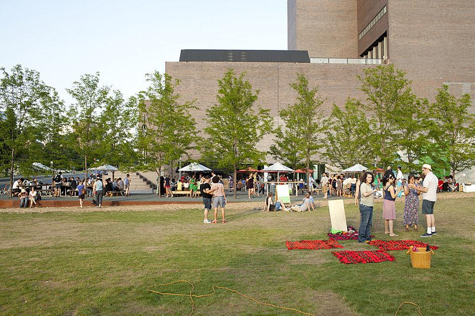 Visitors Enjoy The Four-acre